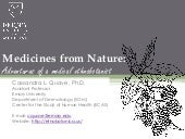Atlanta Botanical Garden Science Cafe: Medicines from Nature - 2014