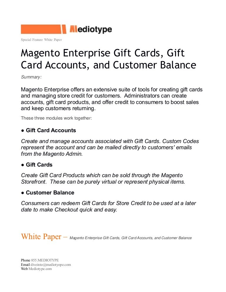 create a gift certificates