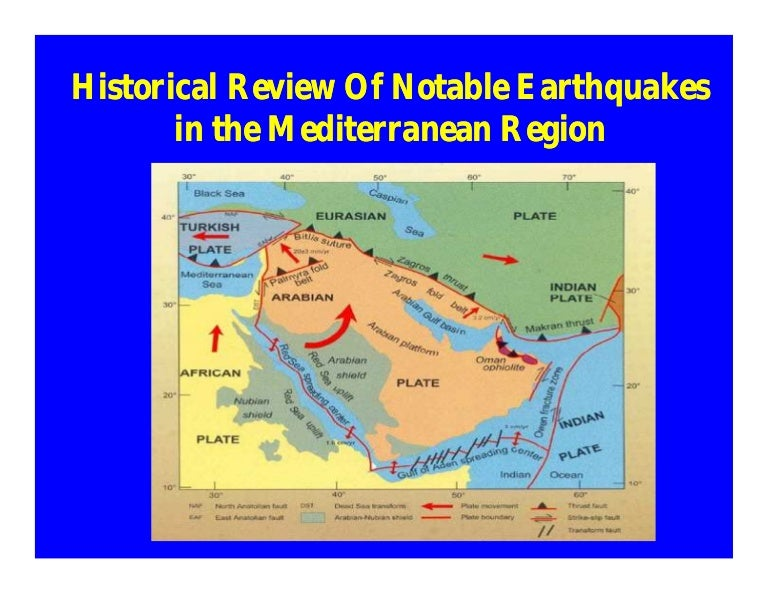 Seismic Hazard in Mediterranean Regions