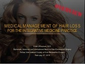 Medical Management of Hair Loss - Webinar - DrAlanBauman 2015