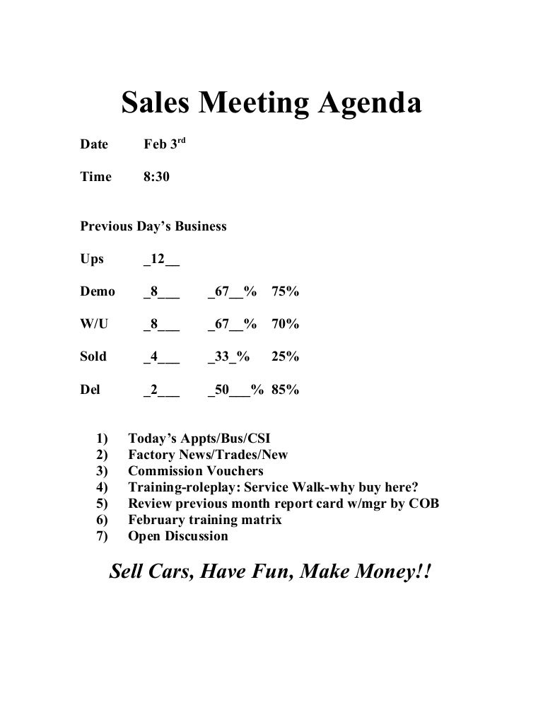 Daily meeting agenda spiritdancerdesigns Image collections