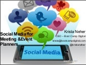 How Meeting and Event Planners Can Use Social Media