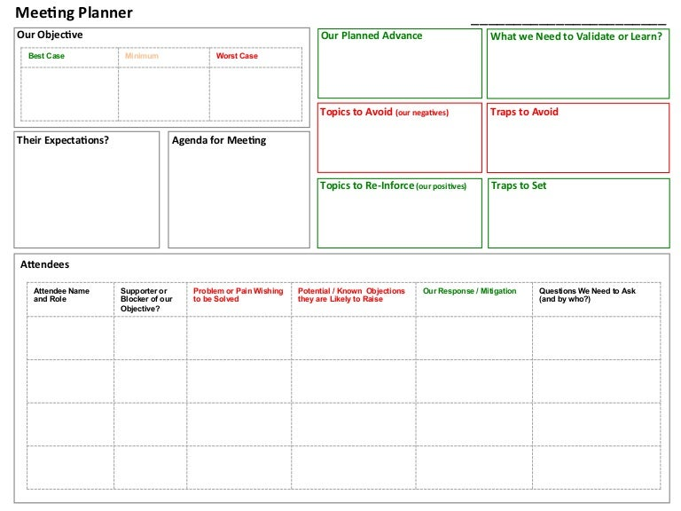 Meeting Planner Tool