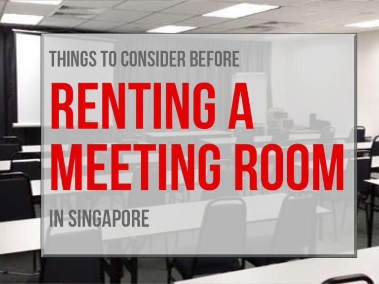 Meeting Room Rental in Singapore – Rent Well-Furbished Meeting Room