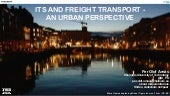 ITS and freight transport - an urban perspective