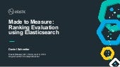 Made to Measure: Ranking Evaluation using Elasticsearch