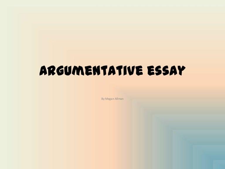 how to start a argumentative essay