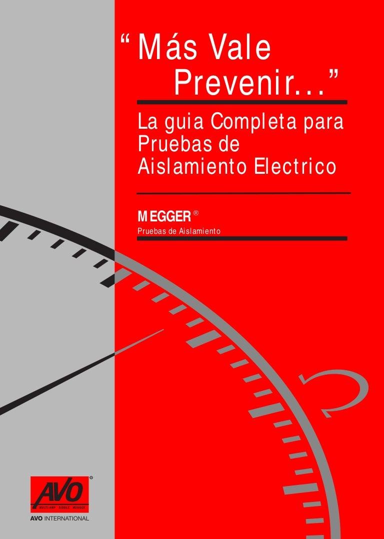 Megger Aislamiento Electrico Circuitos Miscelaneos