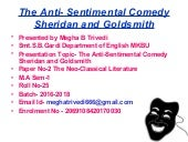 rivals as an anti sentimental comedy Here is a great piece of are ''the rivals'' by sheridan a anti-sentimental comedy as i discribes a valuble way slideshare uses cookies to improve functionality and performance, and to.