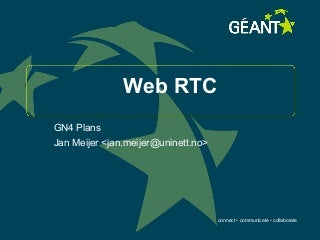 WebRTC in Geant4 (GN4-SA8T2)