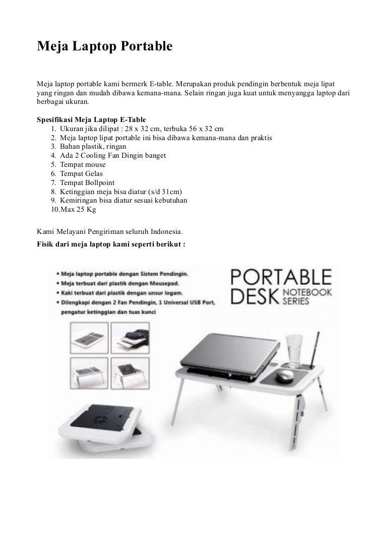 Meja Laptop Portable E Table Lipat