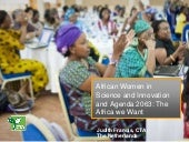African Women in Science and Innovation and Agenda 2063: The Africa we Want