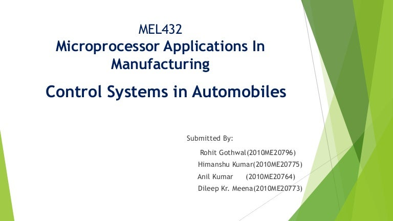 Applications of microprocessor.