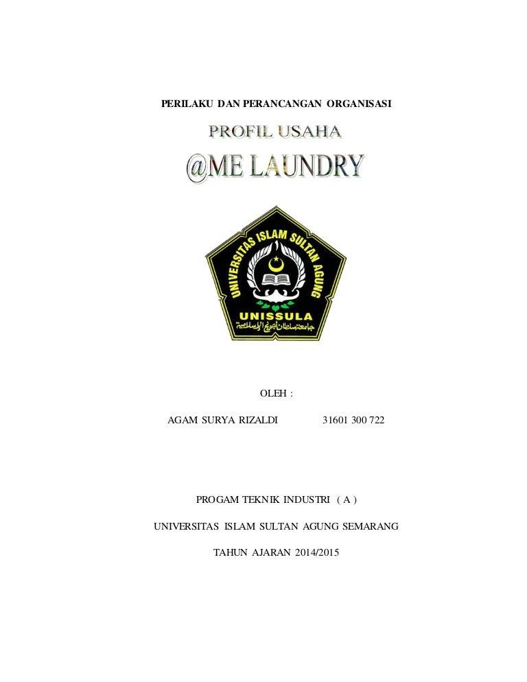 Perilaku Dan Perancangan Organisasi Profil Usaha Me Laundry Ppo