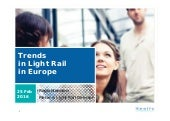 Trends in light rail in Europe by Keolis Metro & Light Rail Director