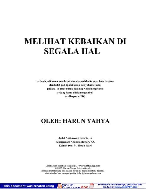 Melihat kebaikan-di-segala-hal by Harun Yahya
