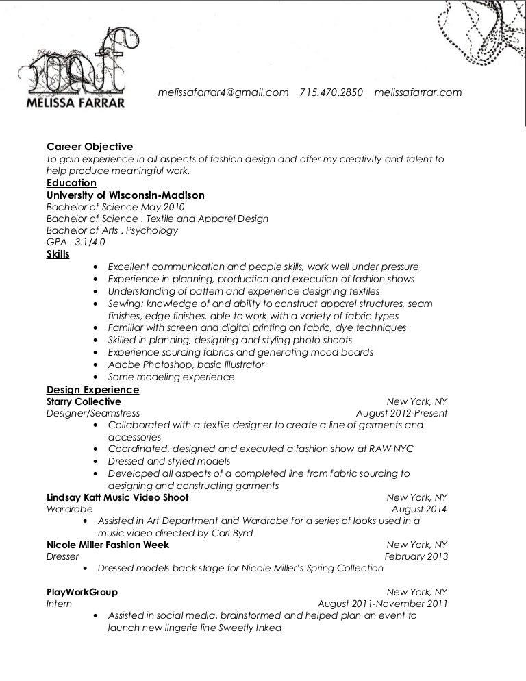 seamstress resume example marvelous slideshare - Seamstress Resume