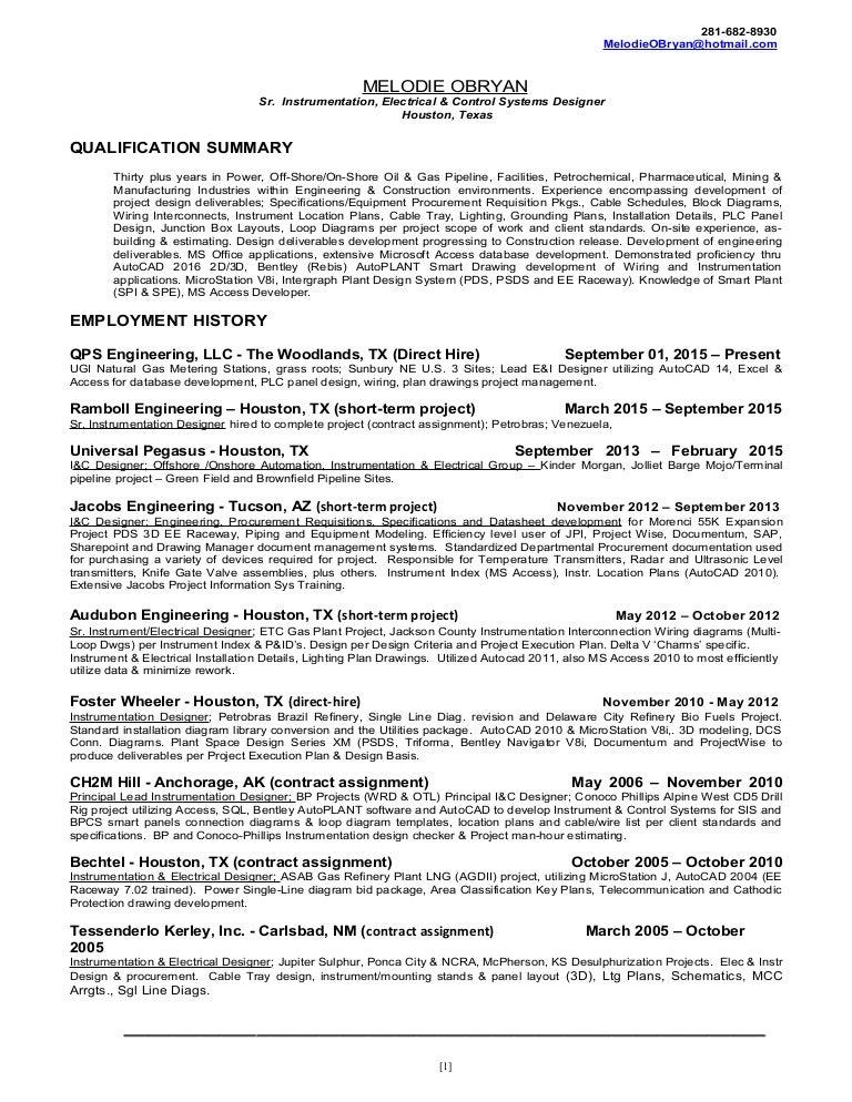 Sr Electrical Instrumentation Control Systems Designer Melodie