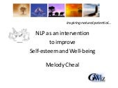 Melody Cheal NLP Research Conference 2010
