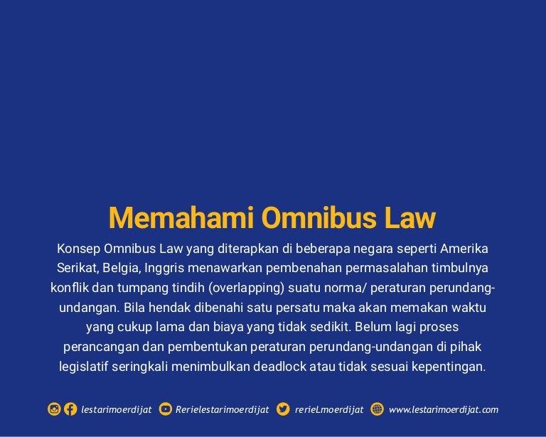Memahami Omnibus Law