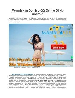 langkah-langkah pasang nomor togel online via android