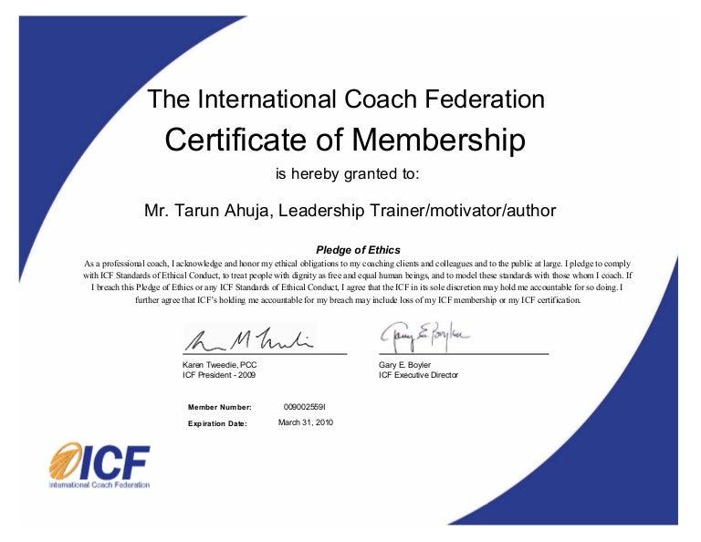SlideShare  Membership Certificates Templates