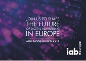 IAB Europe - Membership Brochure 2018