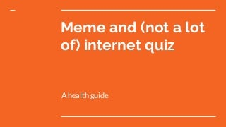 Meme quiz prelims