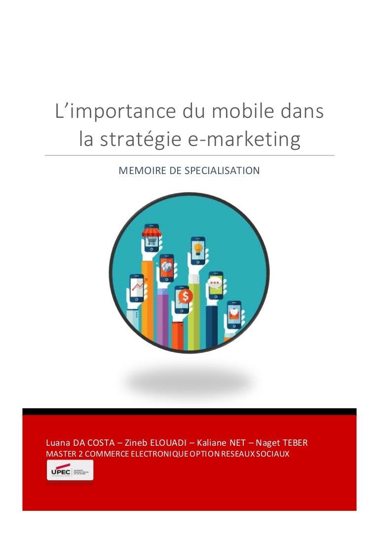 Memoire Specialisation M2 - L importance du mobile dans la stratégie … 536644e5ec2