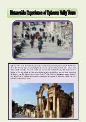 Memorable experience of ephesus daily tours