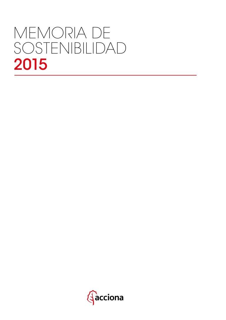 ACCIONA Memoria de Sostenibilidad 2015