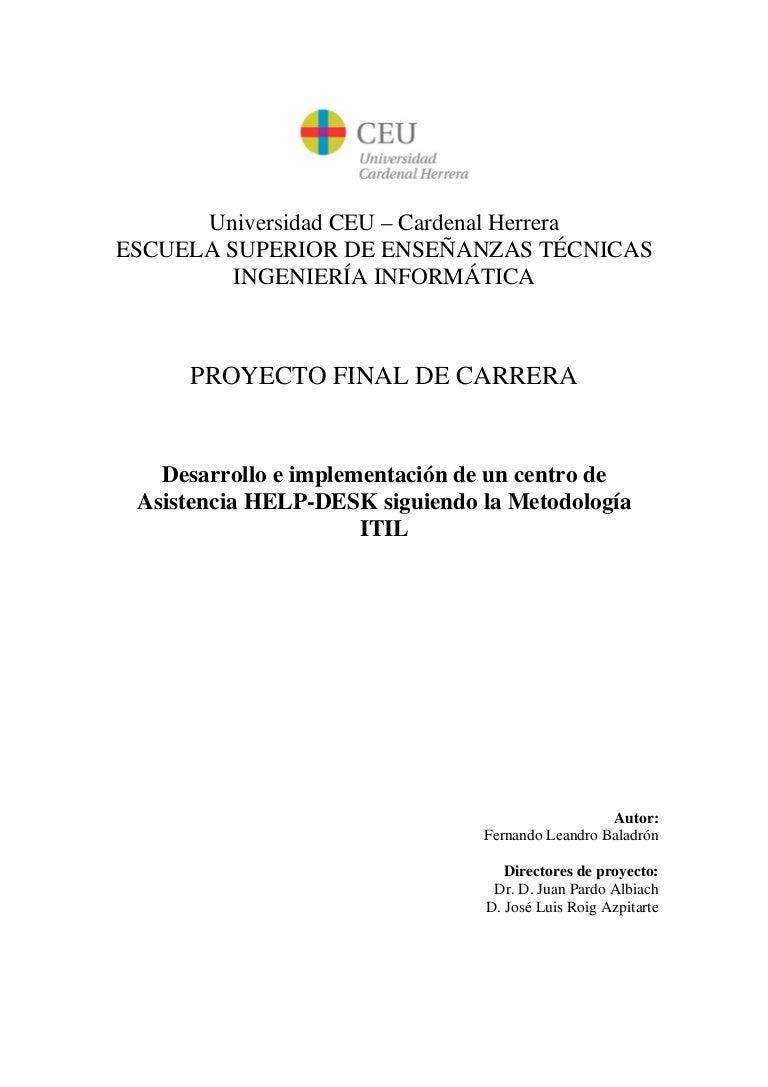 Proyecto Final de Carrera. Ing.Informática. HELP-DESK