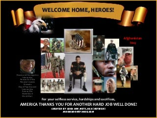 Memorial day welcome home