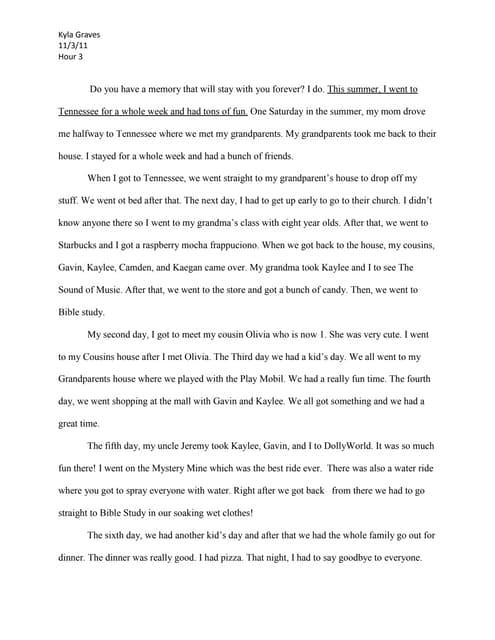 memory essay