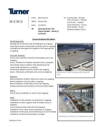 Sporting Park Construction Update (2/23/11)