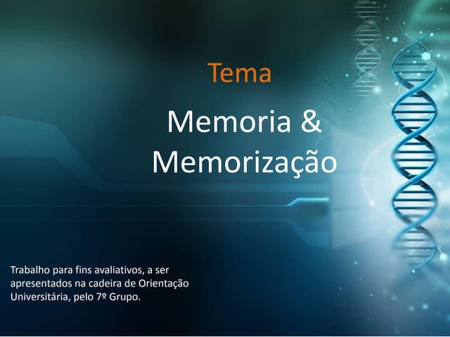 Memória & Memorização