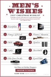 Men's Wishes - 2017 Christmas Wishlist