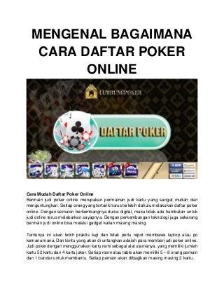 Kira-kira Tips Berfaedah tentang Atas Bermain Poker