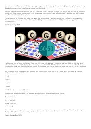 Mengenal Togel: '@-~.$^:>/=%/;*(_<$+),!& Cara Bermain Togel 50:50 dan Strategi Bermain Paling Jitu