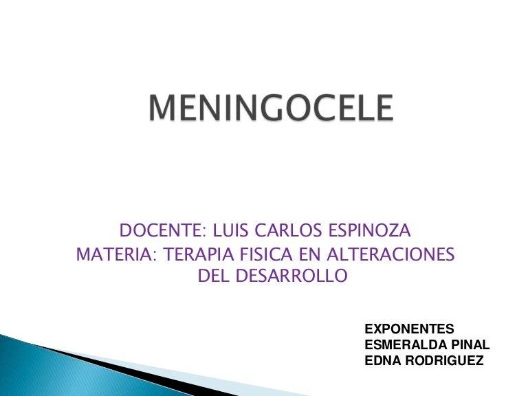 que es meningocele en espanol