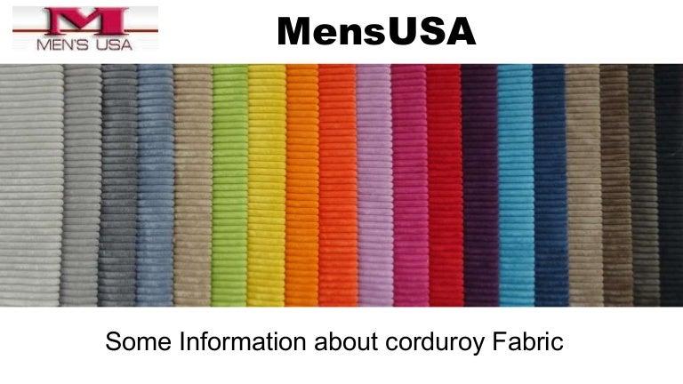 About Corduroy Fabric Corduroy Blazer Men