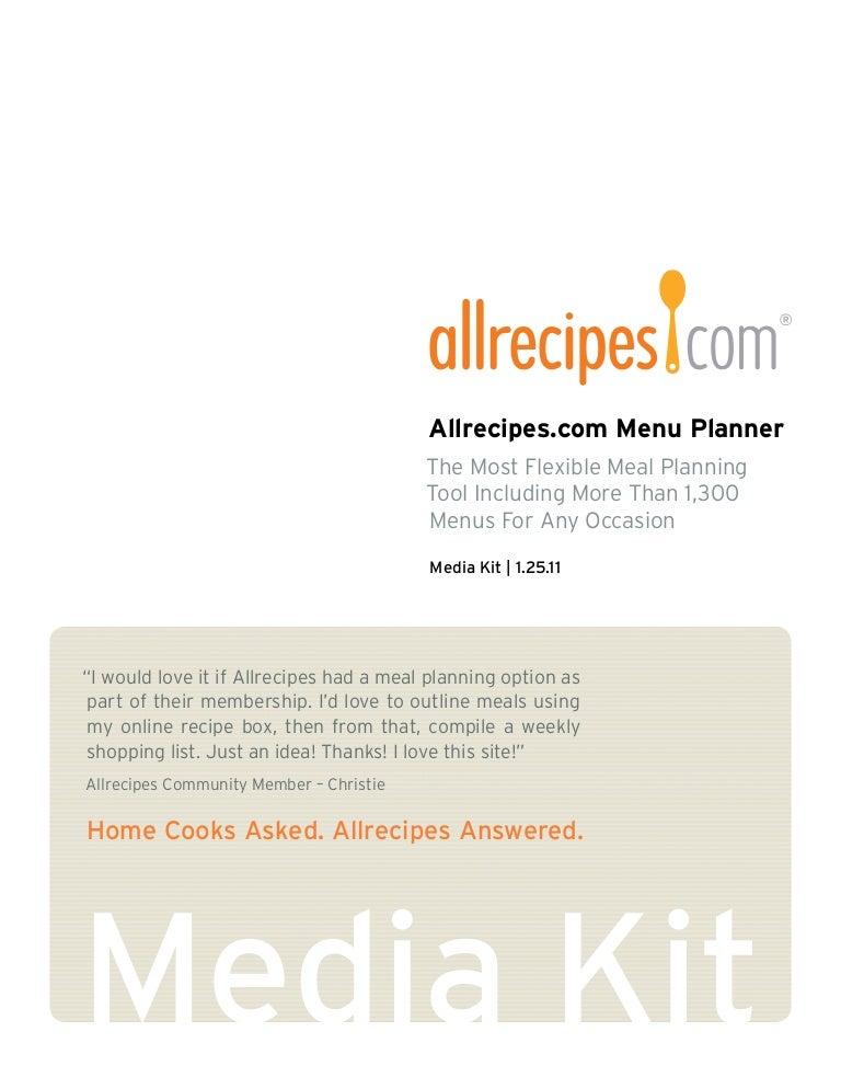 menu planner app