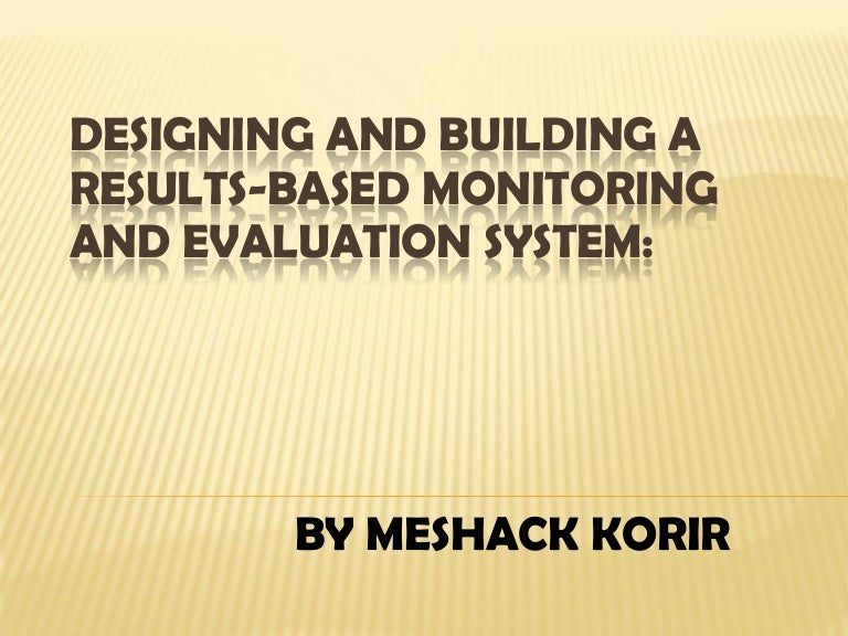 Monitoring And Evaluation Lesson 2