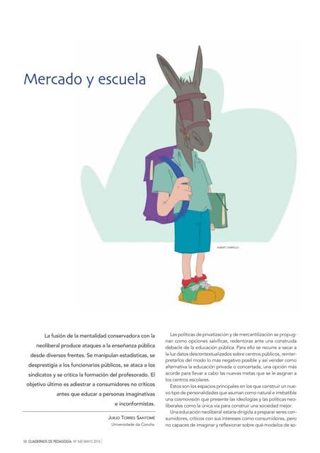 """""""Mercado y escuela"""" Jurjo Torres Santomé"""