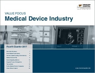 Mercer Capital's Value Focus: Medical Device Industry - Q4 2017 - Segment: Orthopedics