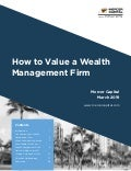 Mercer Capital | How to Value a Wealth Management Firm March 2019