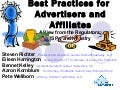 Best Practices For Advertisers and Affiliates