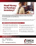 EMYH Funding | Merchants! Obtain Inventory Without Using Your Money Upfront Increase Purchasing Power