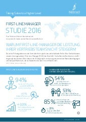 First-Line Manager - White Paper zur Mercuri-Studie 2016