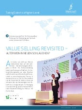 Mercuri White Paper - Value Selling revisited - Interview mit Prof. Christian Belz